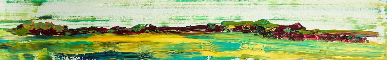 Berge, Acryl auf Leinwand mit Strukturen vonEllen-Buckermann120x20cm
