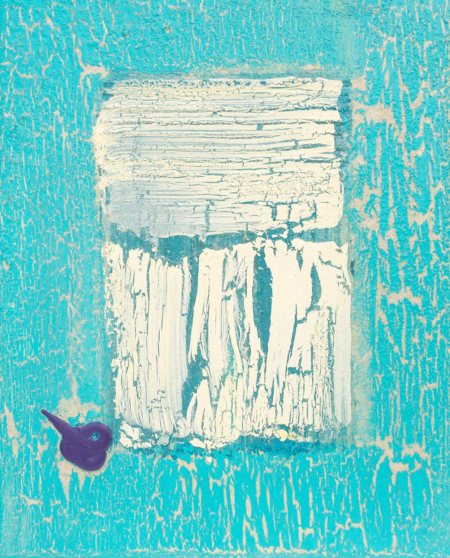 Das kleine Blau von Ellen Buckermann24x30cm