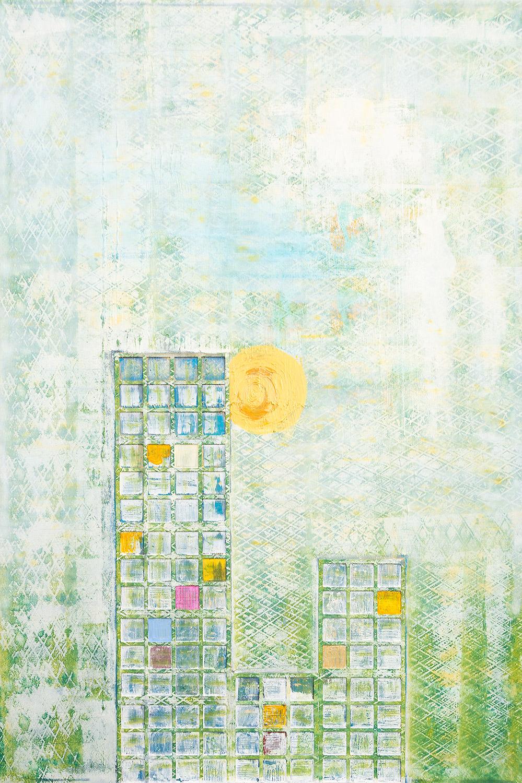 Acryl auf Leinwand, Strukturen von Ellen Buckermann
