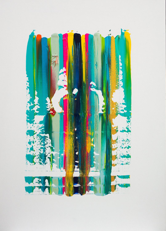 Freude Acryl auf Leinwand von Ellen Buckermann 50x70cm