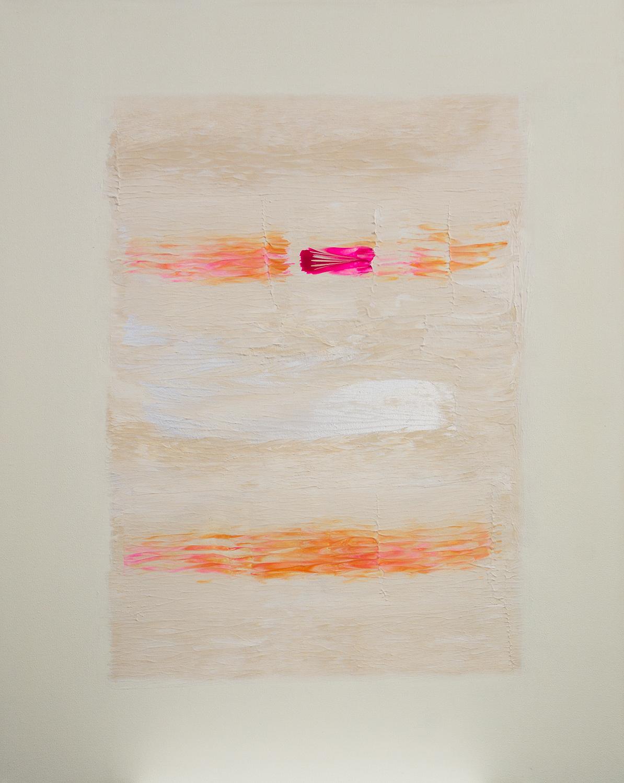 Herzblut Acryl auf Leinwand von Ellen Buckermann 80x100cm