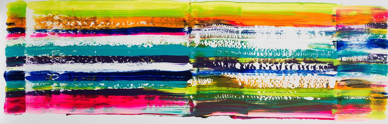 Lebens Lust Acryl und Medien auf Leinwand von EllenBuckermann50x150cm