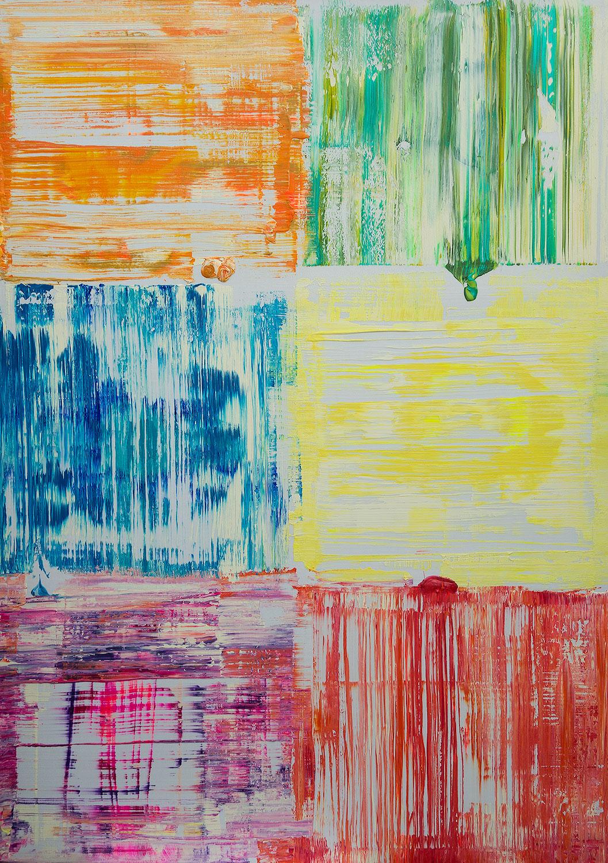 Nebenan - Acrylbild von Dr. Ellen Buckermann